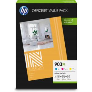 HP TIN 903XL CMY Value Pack Multipack cyan magenta Keltainen