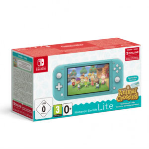Nintendo Switch Lite Türkis sisältää Animal Crossing -