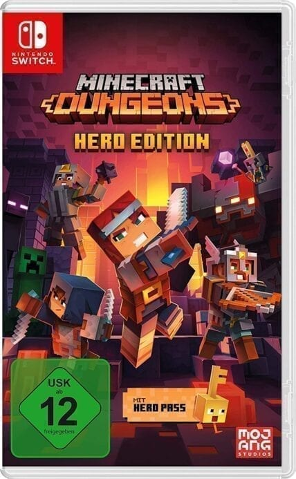 Nintendo Switch Peli Minecraft Dungeons - Hero Edition,