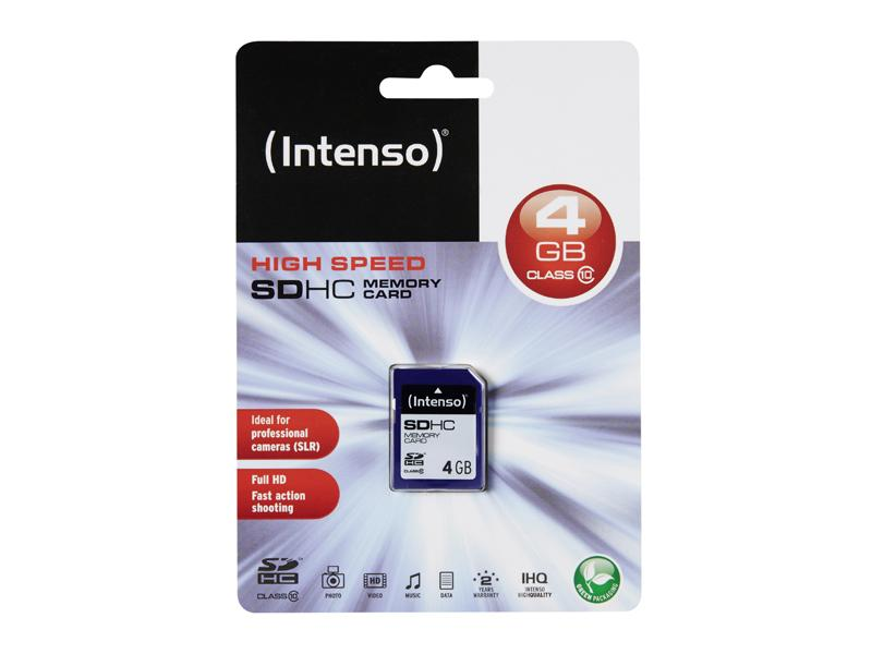 SDHC 4GB Intenso CL10 Blister