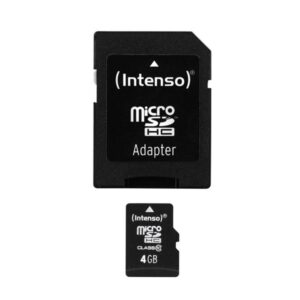 MicroSDHC 4GB Intenso +Adapter CL10 Blister
