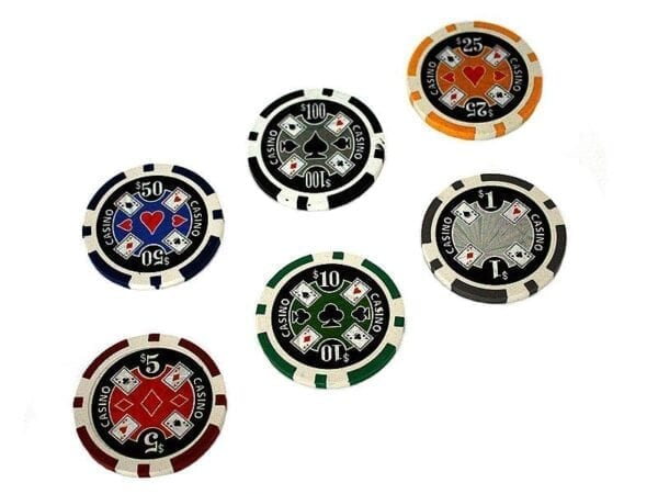 500 Poker Chips with Aluminiumcase (11,5 Gramm, Chips LASER)
