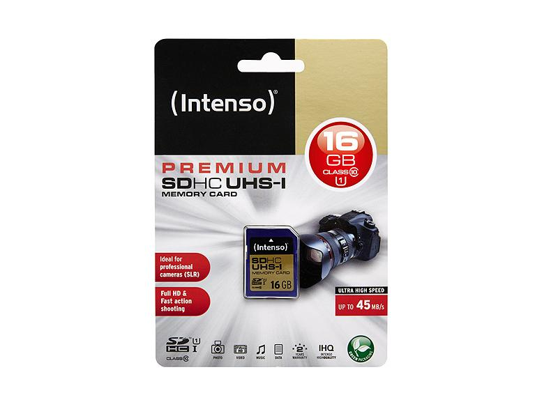 SDHC 16GB Intenso Premium CL10 UHS-I Blister