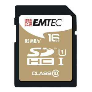 SDHC 16GB EMTEC CL10 Gold+ UHS-I 85MB/s Blister