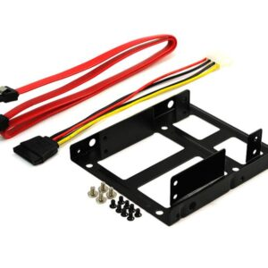 Dual HDD/SSD Metal installation frame on 3,5 core for 2x2,5 with cable