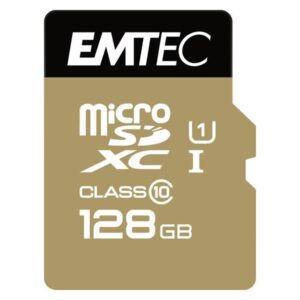 MicroSDXC 128GB EMTEC +Adapter CL10 Gold+ UHS-I 85MB/s Blister