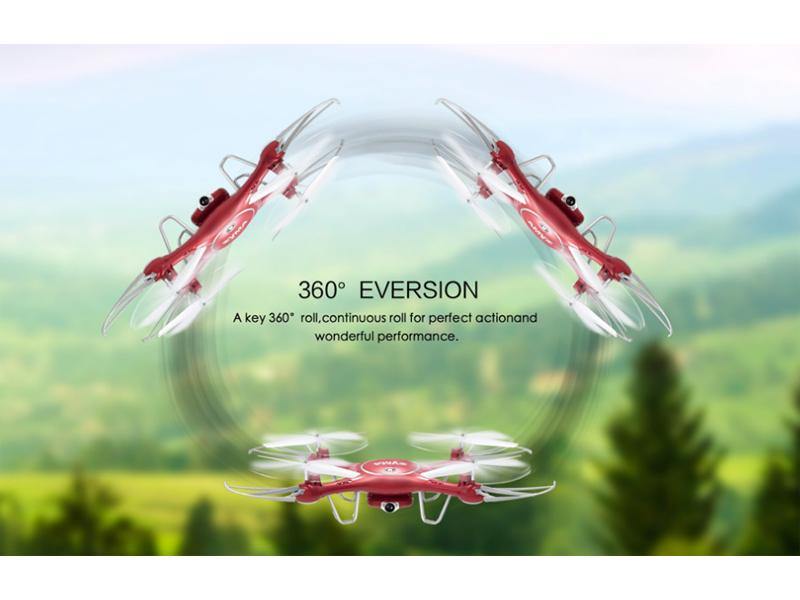Quad-Copter SYMA X5UW 2.4G 4-Channel with Gyro + 720P Wifi Camera (Red)
