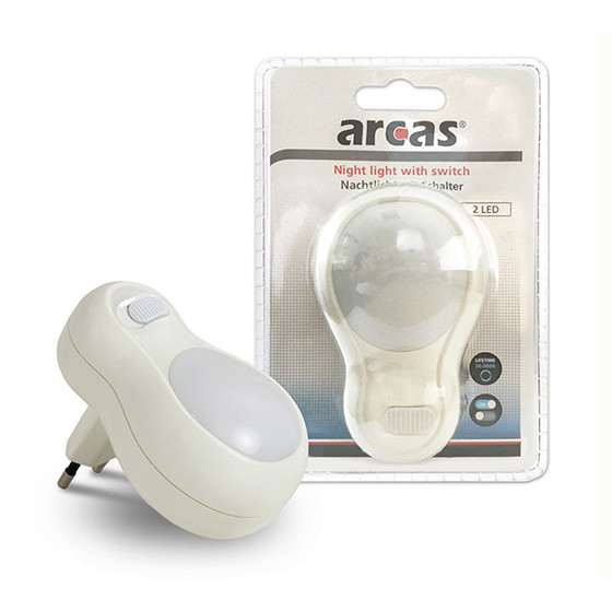 Arcas Night light with switch (White)
