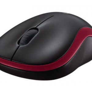 Mouse Logitech Wireless Mouse M185 Red 910-002240