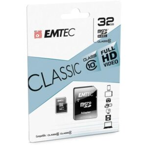MicroSDHC 32GB EMTEC +Adapter CL10 CLASSIC Blister