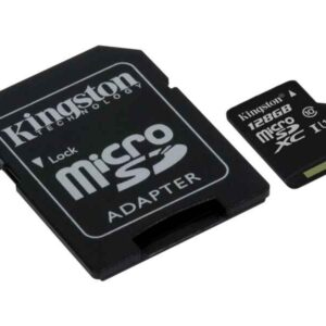 Micro-SD Card 128GB Kingston SDHC UHS-I C10 mit Adapter SDC10G2/128GB
