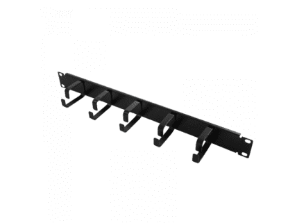 Logilink 19 Cable Management Bar 1U with 5 fixed metal brackets (OR101B)