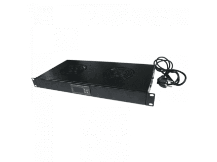 Logilink 19 Fan Unit with 2 Fans, Black (FAU02FB)
