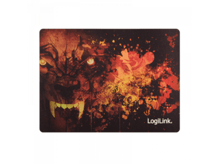 Logilink Ultra thin Glimmer Gaming Mousepad, wolf design (ID0141)