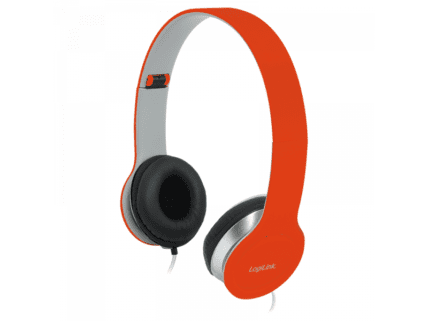 Logilink Stereo High Quality Headset, Red (HS0035)