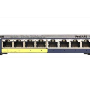 Netgear Gigabit Ethernet (10/100/1000) Power over Ethernet (PoE) Black GS108PE-300EUS