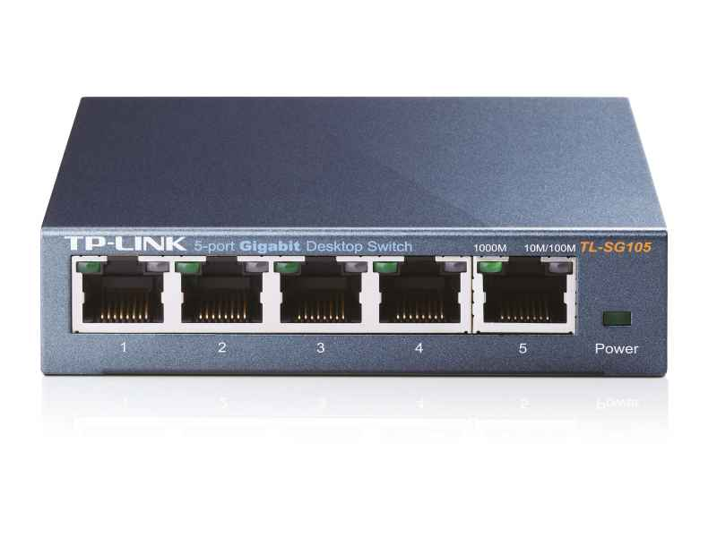 TP-LINK Unmanaged network switch Black network switch TL-SG105