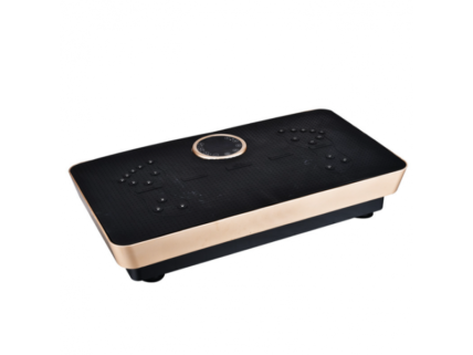 Fitness Body Magnetic Therapy Vibration Plate + Music 73cm (Black-Gold)
