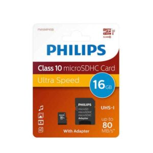 Philips MicroSDHC 16GB CL10 80mb/s UHS-I +Adapter Retail