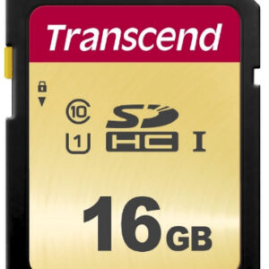 Transcend SD Card 16GB SDHC SDC500S 95/60 MB/s TS16GSDC500S
