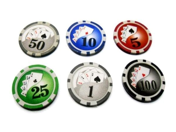 500 Poker Chips with Aluminiumcase (11,5 Gramm, Chips DELUXE)