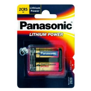 Panasonic Batterie Lithium Photo 2CR5 3V Blister (1-Pack) 2CR-5L/1BP