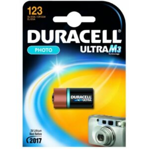 Duracell Batterie Lithium Photo CR123A 3V Ultra Blister (1-Pack) 123106
