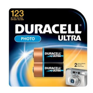 Duracell Batterie Lithium Photo CR123A 3V Ultra Blister (2-Pack) 020320
