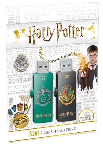 USB FlashDrive 32GB EMTEC M730 (Harry Potter Slytherin & Hogwarts) USB 2.0