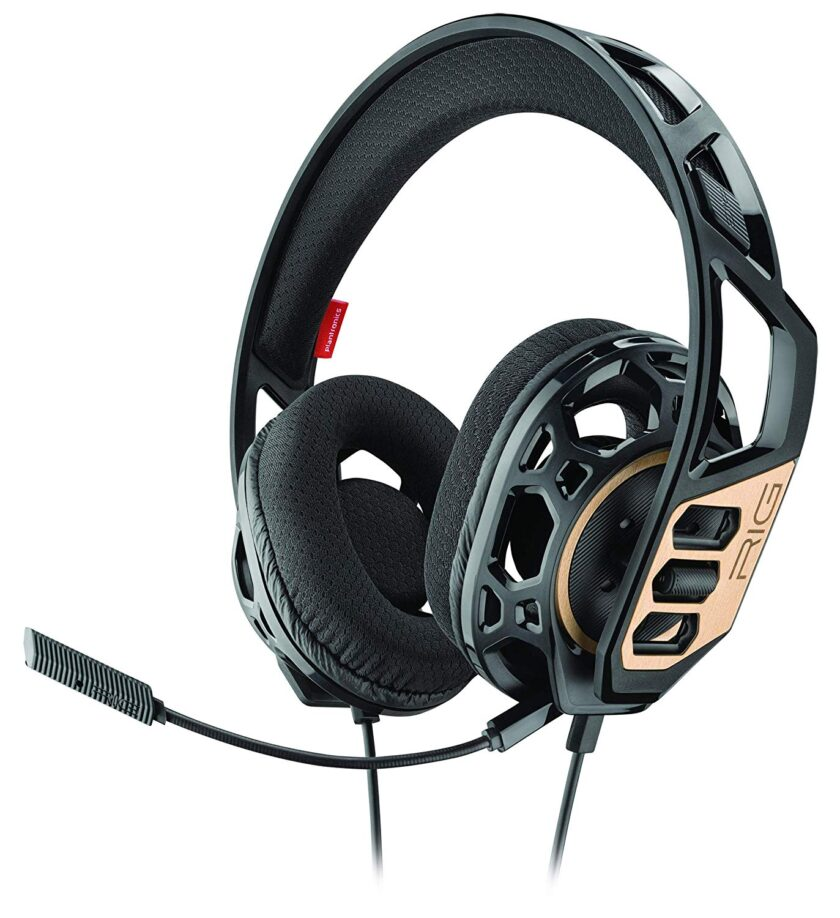 Plantronics RIG 300 Stereo Gaming Headset, Black/Gold