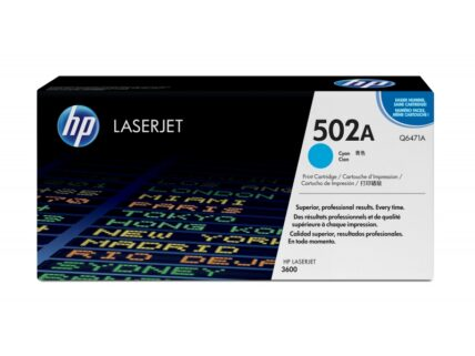 HP Color LaserJet 502A Toner Cartridge Original cyan 4,000 pages Q6471A