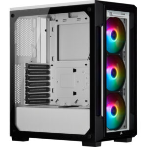 Corsair Case iCUE 220T RGB Tempered Glass Mid-Tower White CC-9011191-WW