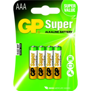 Battery GP SUPER LR03 Micro AAA (4 Pcs.) 030.24AC4