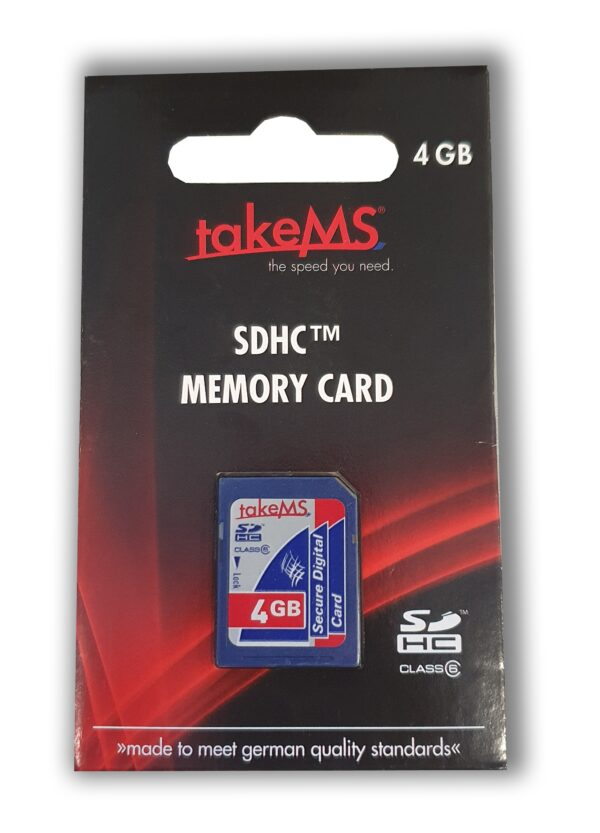 takeMS SDHC Memory Card 4GB CL6 Retail