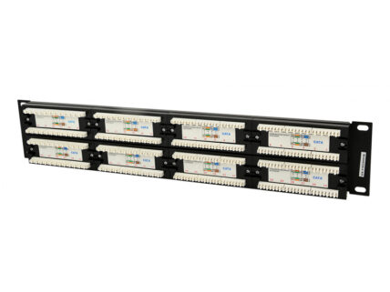 CableXpert Cat.6 48 port patch panel with rear cable manag. NPP-C648CM-001