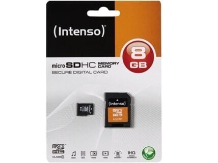 MicroSDHC 8GB Intenso +Adapter CL4 Blister